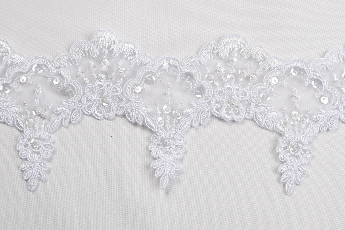 Beaded Bridal Trim