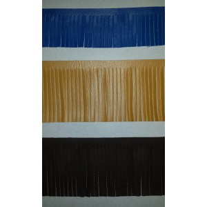 Faux Leather Fringe/4""