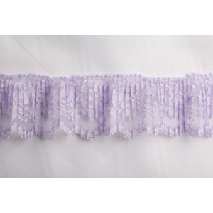 "3"" crystal pleated lace #3126crp"