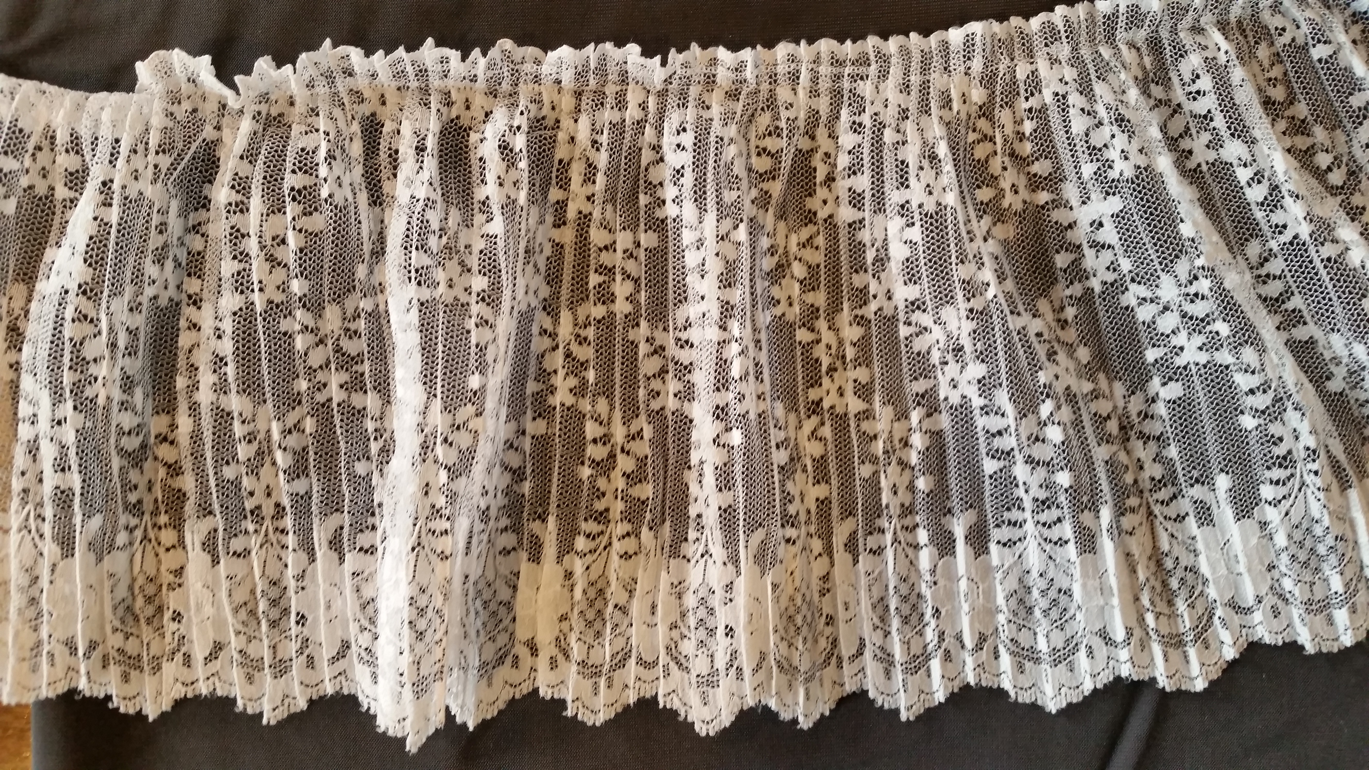 Crystal Pleated Lace #6153P