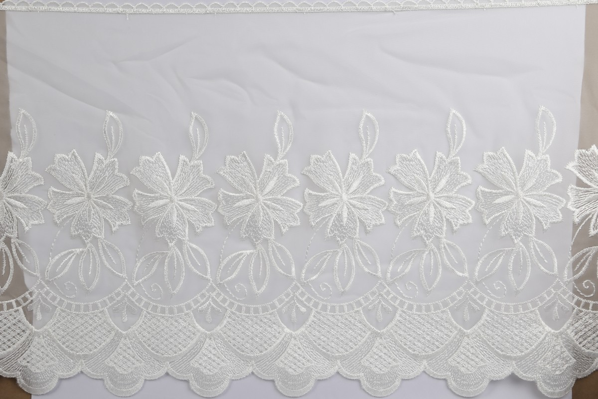 """Embroidered Organdy Trim 5294/15"""""""