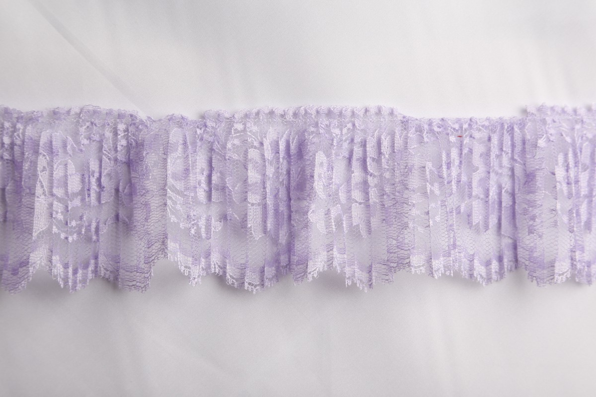 """3"""" crystal pleated lace #3126crp"""