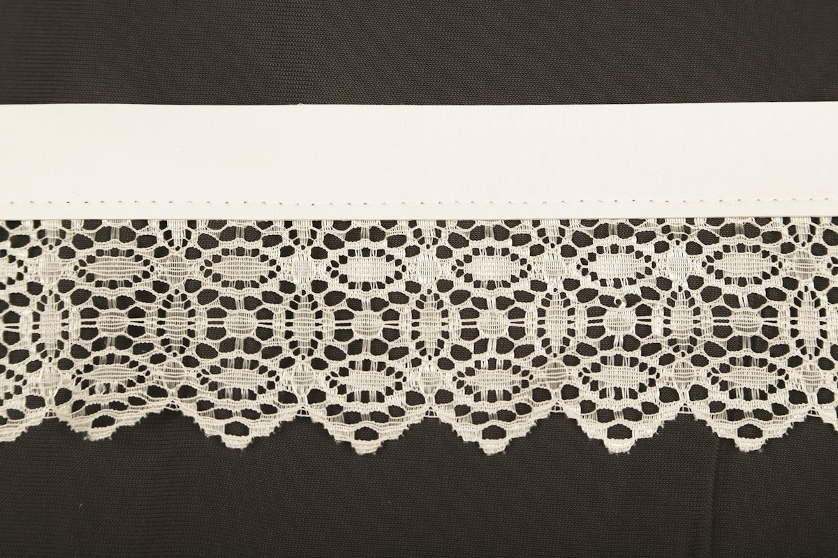 Flat lace with faux leather 3128/11