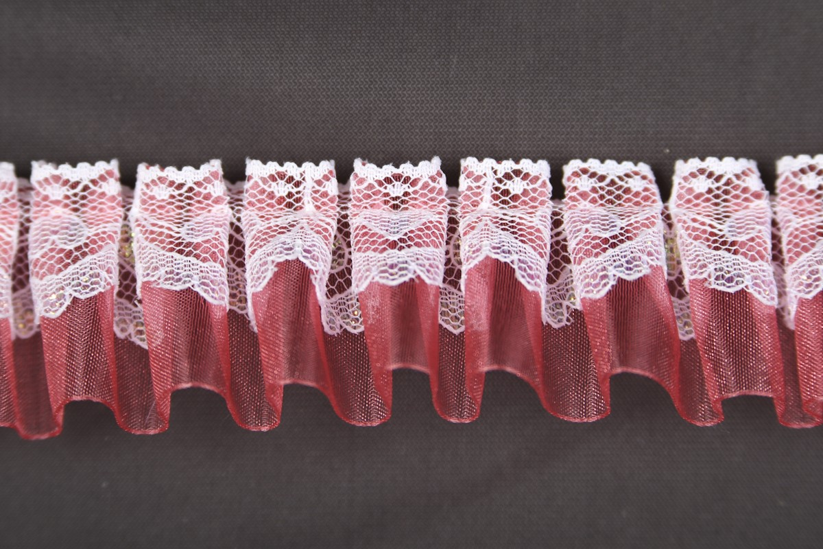Pleated Organza and Lace #W2448R