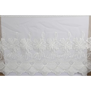 Embroidered Organdy Trim 5294/15""