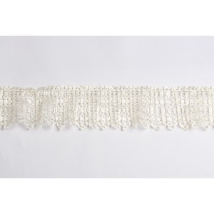 "3"" Crystal Pleated Lace #3128CRP"