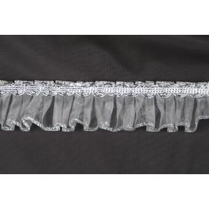 Pleated organdy and braid #2289M/Silver