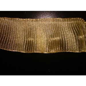 "4"" Crystal Pleated Organza #4148MCRP/Gold"