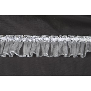 Pleated organdy and braid #2289M/Silver